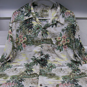 "Go Barefoot Hawaiian Shirt ""Steam Ship"" MUST HAVE"